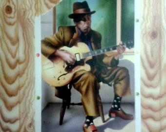 John Lee Hooker trompe l'oeil