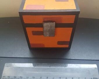 Minecraft chest - wooden trinket box
