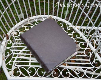Handmade Brown Leather Book of Shadows Grimoire