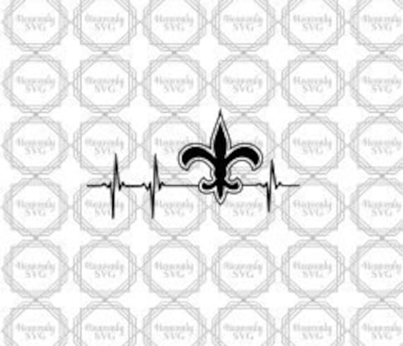 New Orleans Saints Svg Heartbeat Saints Saints Heartbeat Etsy
