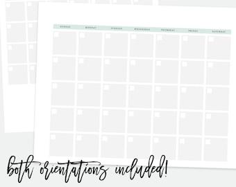 Editable Monthly Calendar, Reusable Monthly Calendar, 2017 Monthly Wall Calendar Printable, Wall Calendar 2017, Printable 2017 Calendar