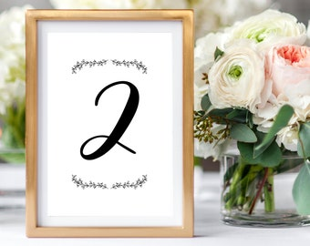 Rustic Table Numbers, Laurel Table Number Cards, Wedding Table Numbers, Foliage Wedding Table Numbers, Rustic Party Table Numbers