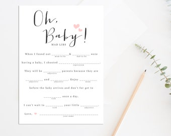 Bridal Shower Mad Libs Printable Funny Bridal Shower Game