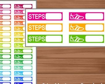 Steps Stickers Planner Printable. Gym Stickers Planner Printable. Sport Stickers Planner Printable. Erin Condren Stickers Printable.