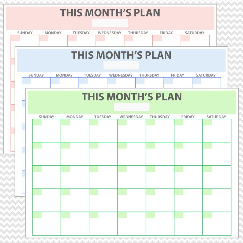 Schema Calendario Mensile.Pianificatore Mensile Stampabile Pianificatore Calendario Mensile Organizzatore Mensile Programma Mensile Programma Mensile Schema Mensile