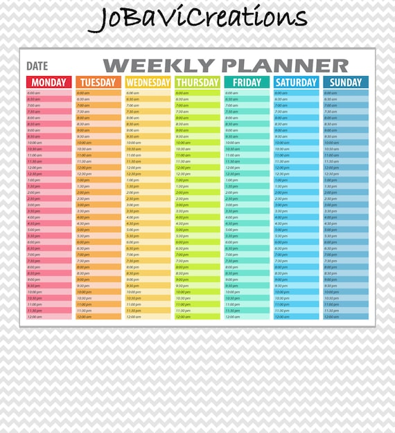 picture regarding Weekly Schedule Printable named Hourly Weekly Plan Printable. Hourly Weekly Planner Printable. Hourly Weekly Plan. Hourly Weekly Organizer Printable. Day by day Planner.