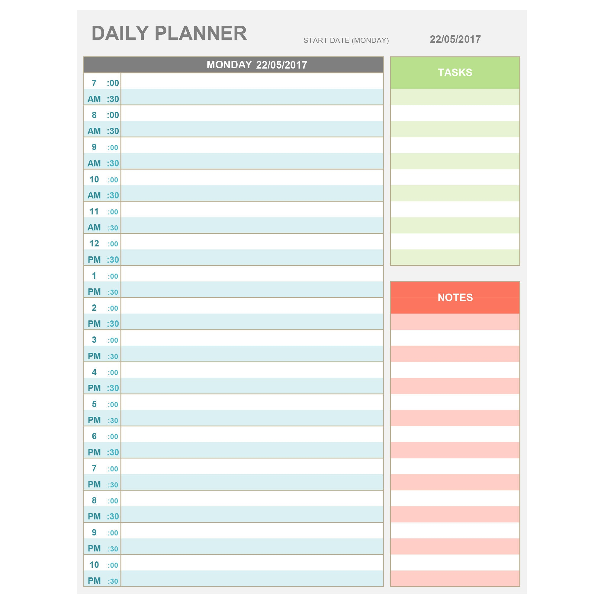 Transformative image within weekly hourly planner printable