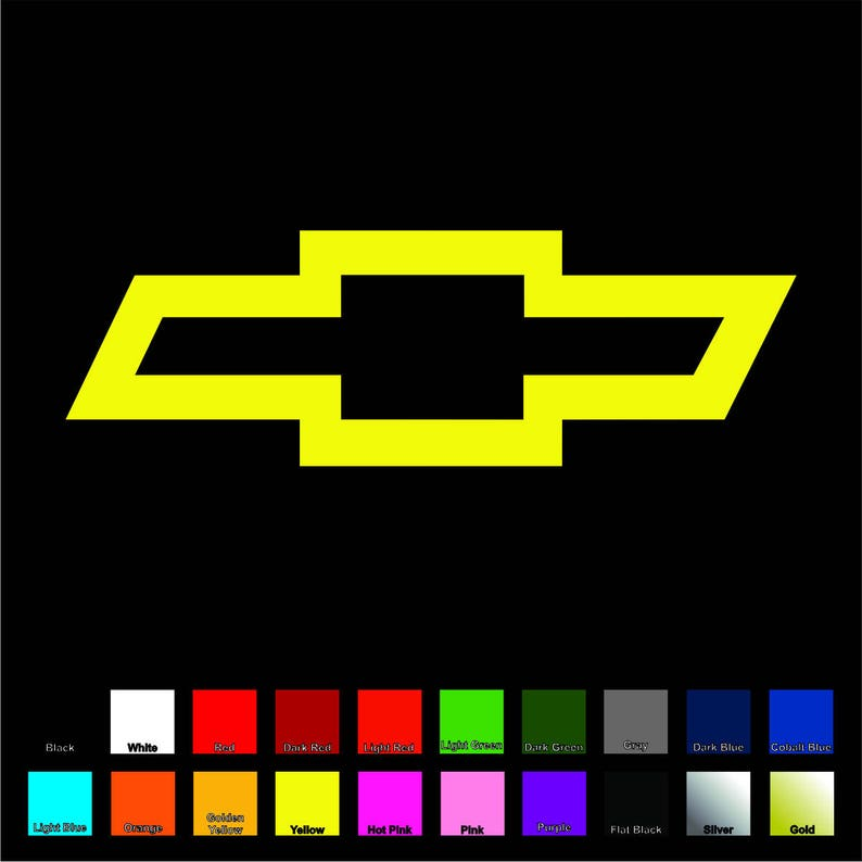 Chevy Bowtie Decal - Choose Color & Size - Cars, Truck, Window Chevrolet