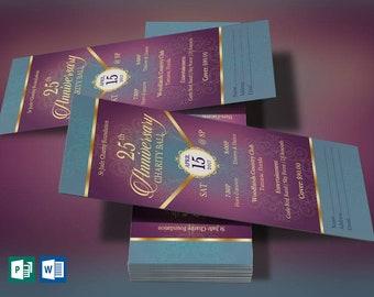 green church anniversary banquet ticket word publisher etsy