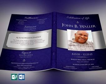 funeral program etsy