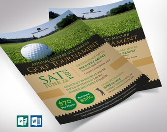 a9f1256d0ec Charity Golf Tournament Flyer Word Publisher Template ( All Colors are  Editable)