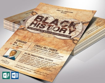 """Black History Flyer Word Publisher Template 