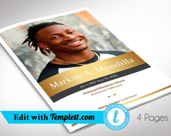 """Kings Funeral Program Templett Template 