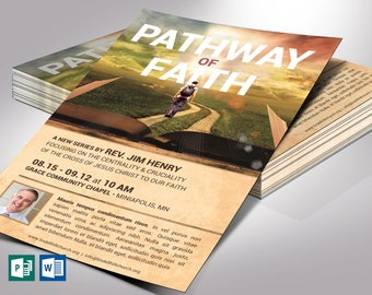 """Faith Path Church Flyer Word Publisher Template 