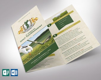 """Charity Golf Tournament Brochure Template - Word and Publisher 