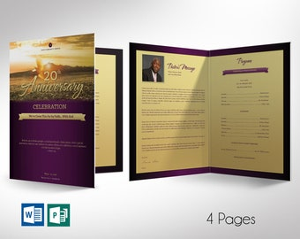 """Church Anniversary Program Large Word Publisher Template 