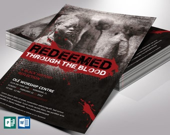 """Redeemed Black History Flyer Word Publisher Template 