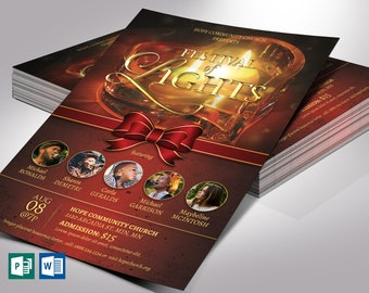 """Light Christmas Flyer Word Publisher Template 