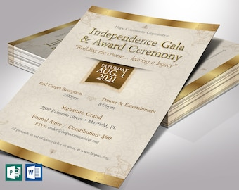 """Independence Banquet Flyer Word Publisher Template 