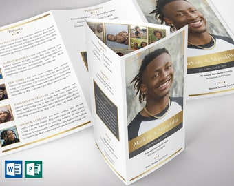 """Kings Legal Trifold Funeral Program Word Publisher Template 