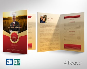 """Pastor Anniversary Program Word Publisher Large Template 