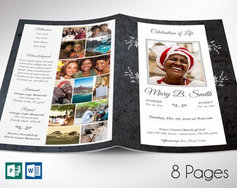 """Graystone Funeral Program Word Publisher Template 