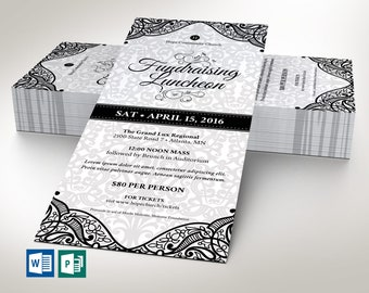 """White Black Luncheon Flyer Word Publisher Template 