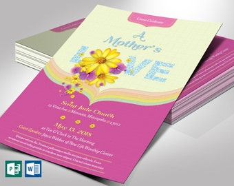 """Mothers Day Flyer Word Publisher Template 