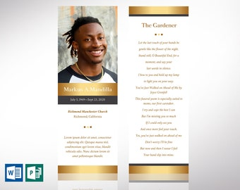 """Kings Funeral Bookmark Word Publisher Template 