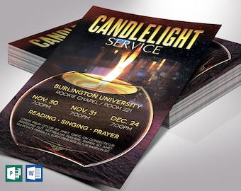 """Candle Light Flyer Word Publisher Template V2 