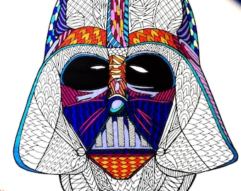 Rebel Alliance Star Wars Symbol PDF Zentangle Coloring Page