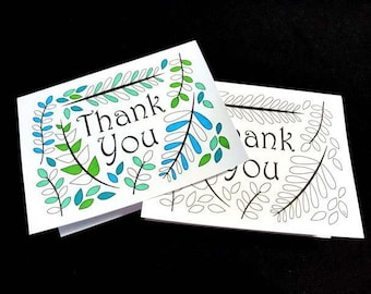 Thank You Card With Ferns