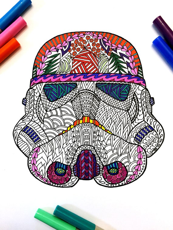 View Star Wars Stormtrooper Helmet Coloring Pages