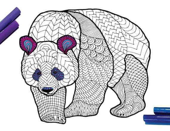 Giant panda coloring pages - Hellokids.com | 440x570