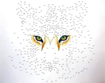Tiger - Extreme Dot to Dot - PDF Activity and Coloring Page