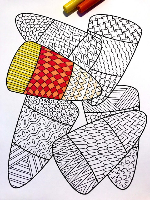 Candy Corn  PDF Zentangle Coloring Page