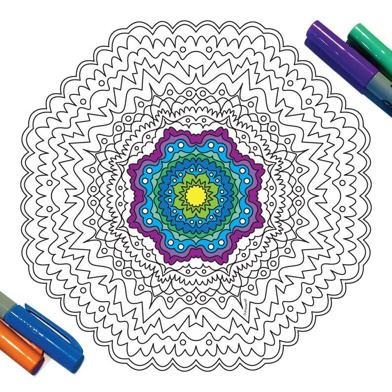 Loop Mandala Pdf Zentangle Coloring Page