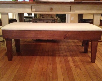 Pine Table Bench Seat Cushion, Kitchen Bench, Farmhouse Bench, Rustic Bench,  Country