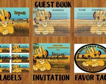 Lion King (Simba) Birthday Party Bundle