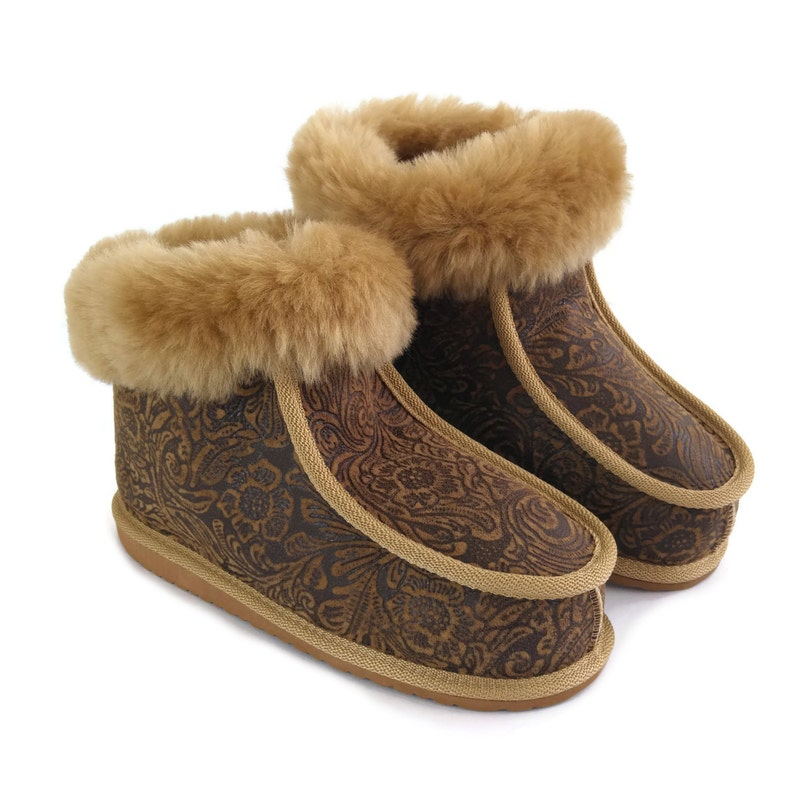 0044f0c7a04 New Handmade Ladies Women's Premium 100% Pure Genuine Twinface Sheepskin  Boots Slippers EVA Sole UGG Style size EU 41