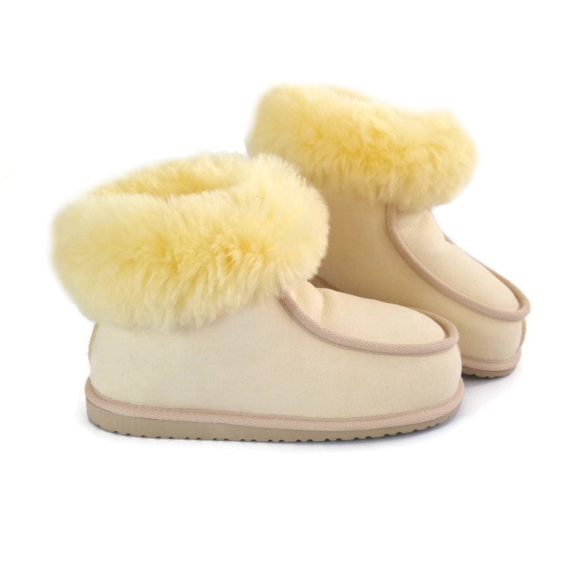 3fa06b8b49d New Handmade Ladies Women's Premium 100% Pure Genuine Twinface Sheepskin  Boots Slippers EVA Sole UGG Style size EU 40