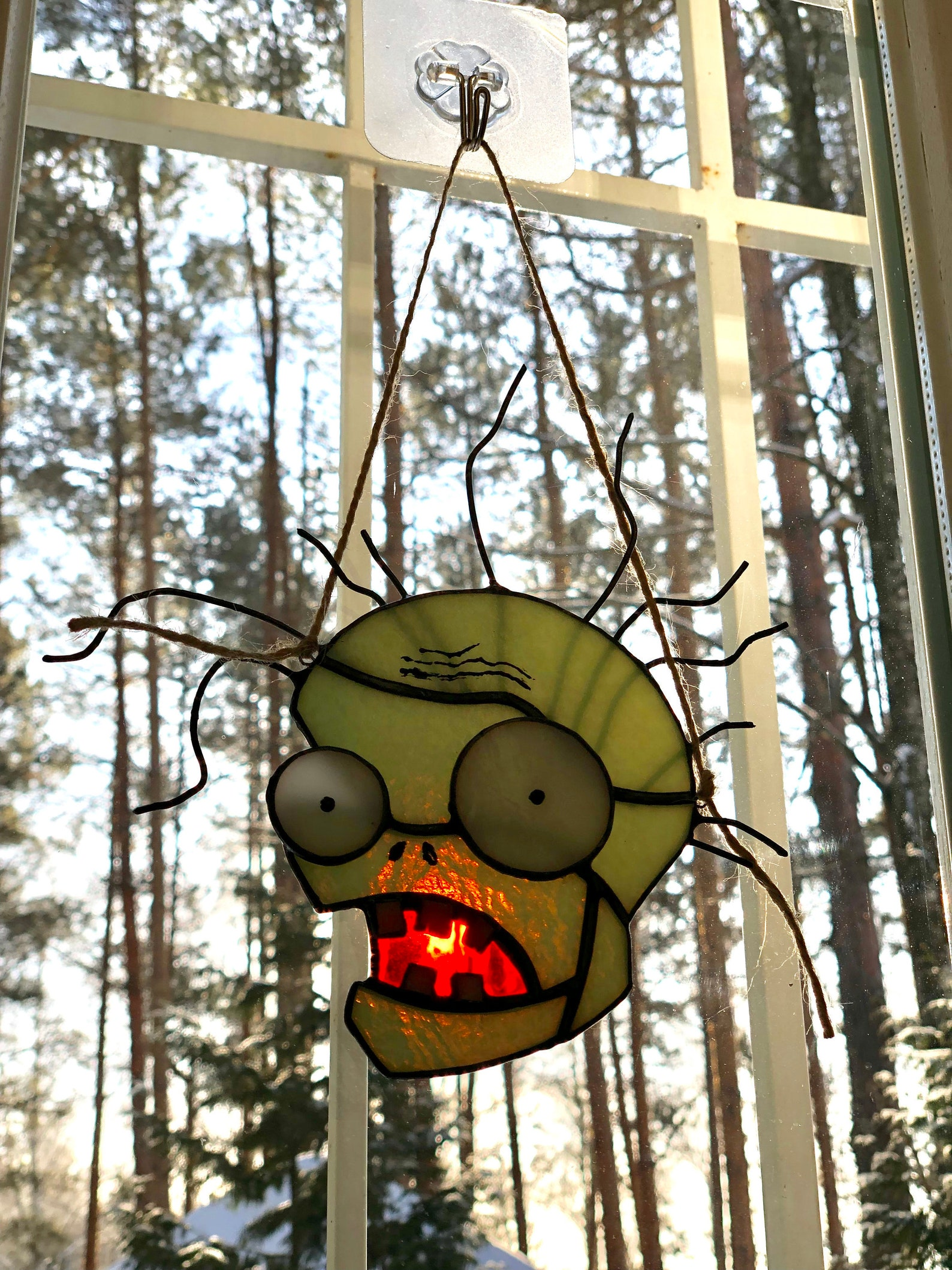 Zombie Stained Glass Suncatchers