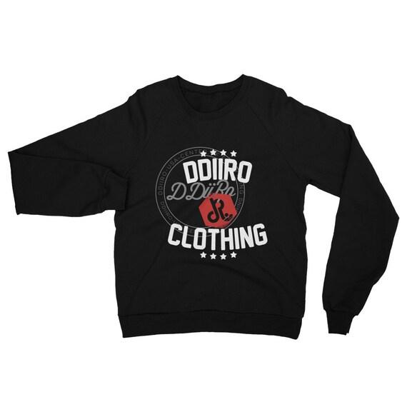 DDIIRO Unisex California Fleece Raglan Sweatshirt