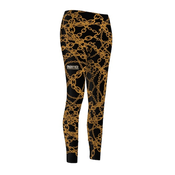 DDIIRO Women's Gold Chain Casual Leggings