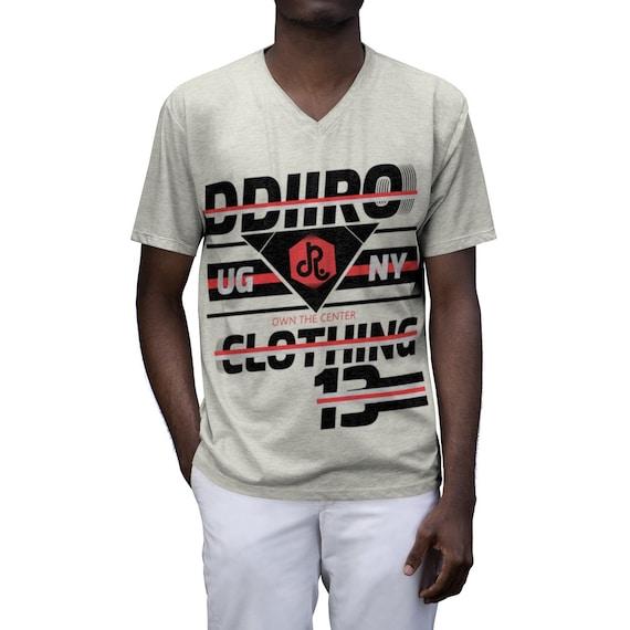 DDIIRO Men's Tri-Blend V-Neck T-Shirt