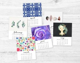 2018 printable calendar - Uplifting calendar - Calendar and wall art - Monthly calendar - Eclectic 2018 calendar - Girls gift - Women gifts