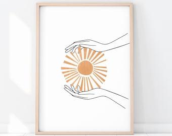 Sun Wall Art Etsy
