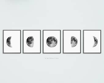 picture relating to Moon Phase Printable identified as Lunar levels print Etsy