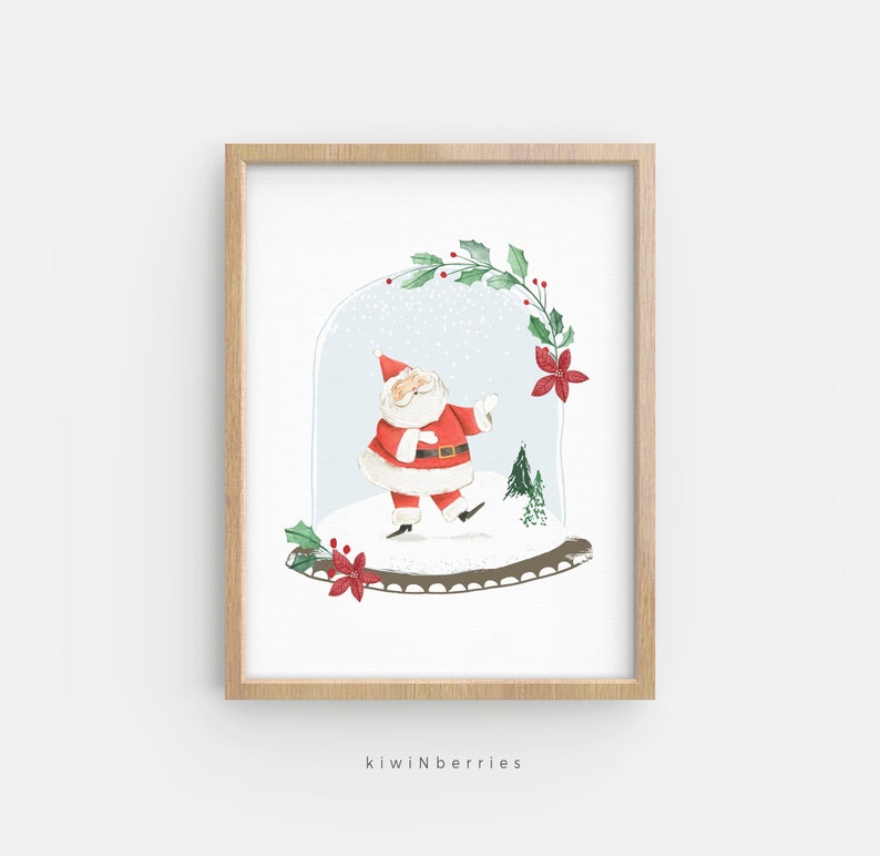 photo about Santa Claus Printable Pictures named Santa Claus print, Xmas wall artwork, Xmas printable, Lovely xmas decor, Xmas decor, Xmas print youngsters, Santa print