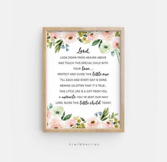 Afdrukbare Gift Van Doop Doop Gedicht Baby Meisje Doopsel Gift Doopsel Afdrukbare Kijk Neer Uit De Hemel Hierboven Christelijke Cadeaus